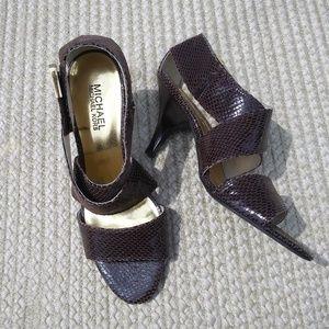 Michael Kors Leather Heeled Dress Sandals Sz 7.5
